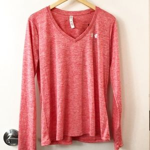 Under Armour Long Sleeve Athletic Top Pink Large
